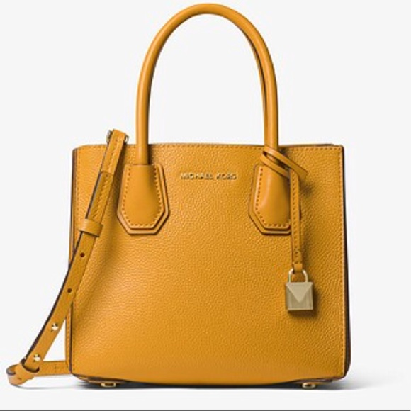 11fa13959a8b Michael Kors Bags | Mk Yellow Accordion Tote | Poshmark